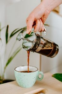 serving coffee from french press