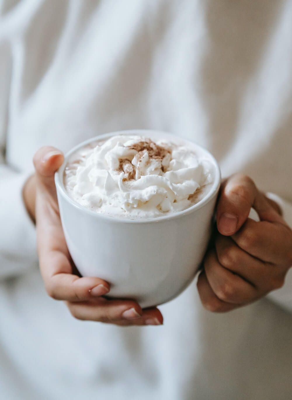 bone dry cappuccino with whipped cream