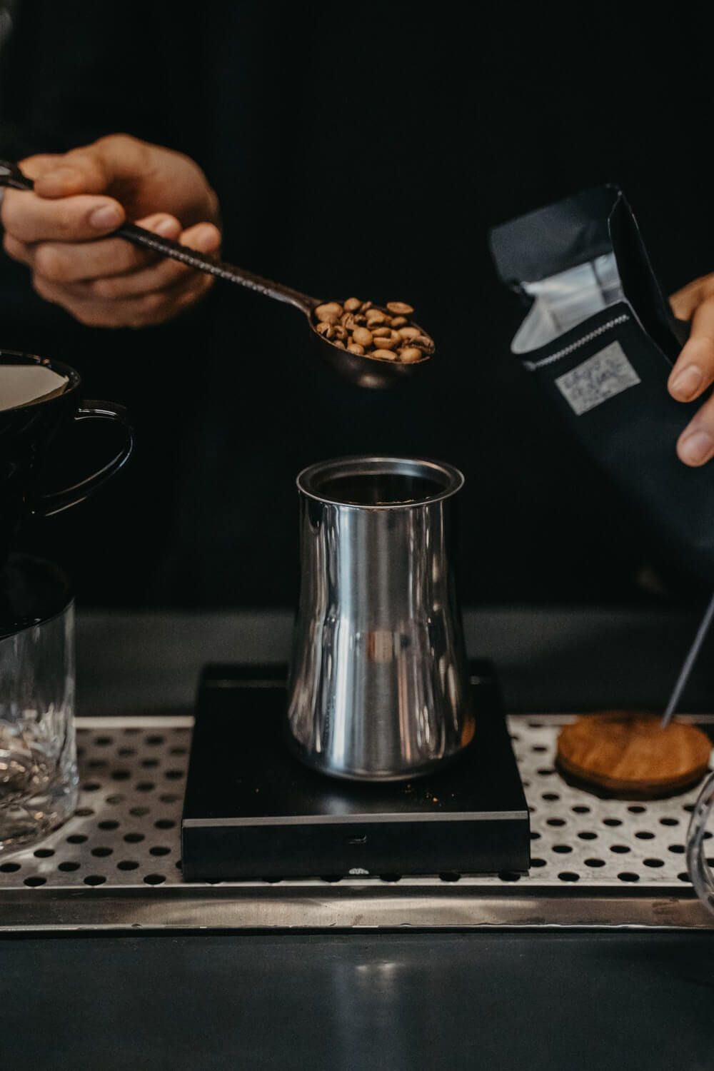 coffee beans kitchen scale